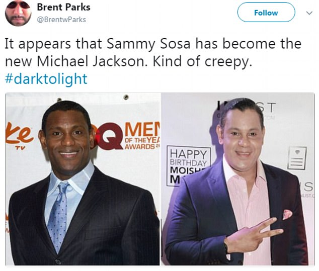 Black Former Chicago Cubs Star Sammy Sosa Shocks Social Media With Series Of Pictures That How Him Dabbing With WHITE Skin
