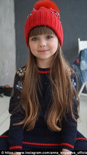Russian Child Model Aged Just SIX Is Hailed As 'The Most Beautiful Girl In The World'