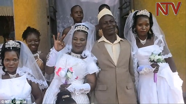 Ugandan Man Marries Three Women (Two Are Sisters) On The SAME DAY Because He Couldn't Afford Three Ceremonies