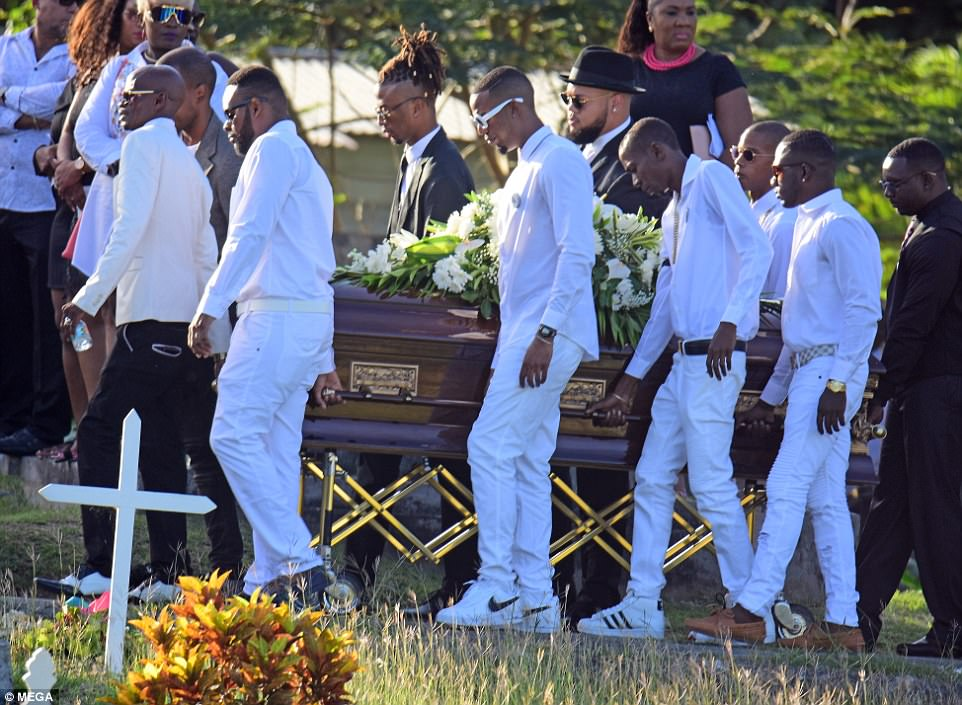 Rihanna Wipes Away Tears At Funeral For Her Cousin Tavon Alleyne Who Was Shot Dead In Barbados