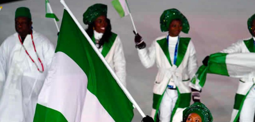White Couple Win The Internet By Wearing Nigerian-Themed Outfit For An Olympic Party