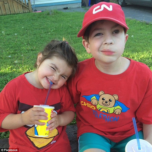 Heartbreaking Photo Of Boy, 14, And His Five-Year-Old Sister Comforting Each Other As They Both Fight Cancer