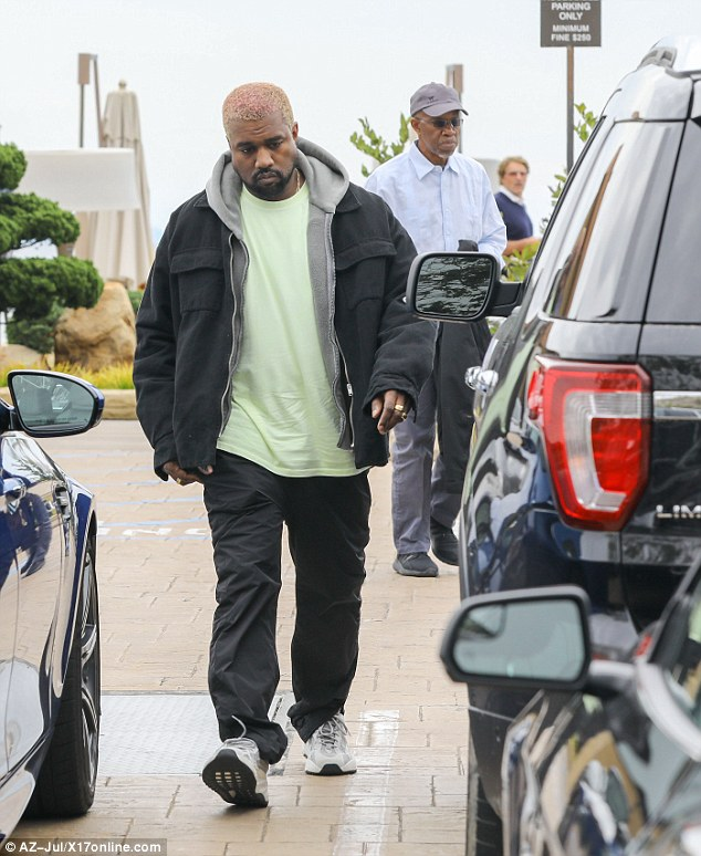 Kanye West Rocks Pink Hair As He Is Spotted During Rare Outing With Dad Ray